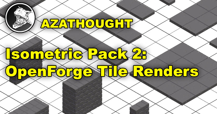 Isometric Pack 2: OpenForge Tiles Rendered in Isometric